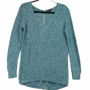 Dynamite Oversized Sweater Tunic Zip Back